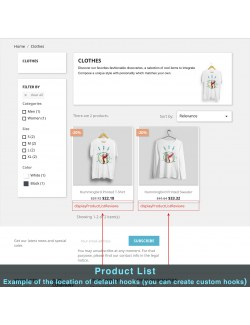 View of the content block on the product page of the module Product Extra Content