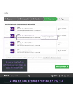 Services list of the module FedEx Carrier for PrestaShop 1.6
