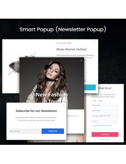 Designs of the module Smart Popup (Newsletter Popup) for PrestaShop