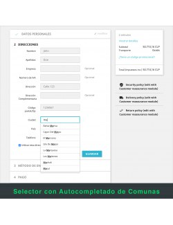 Address form of the module Starken for PrestaShop