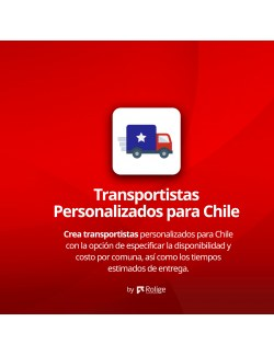 PrestaShop Module of Custom Carriers for Chile
