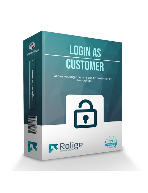 Login as Customer